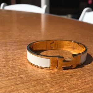 AUTHENIC!!! Gold and white Hermès bracelet